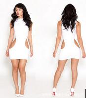 Women's Bandage Dress Ladies Sexy Slim Pierced Dresses Sexy & Club Fashion Mini Dress