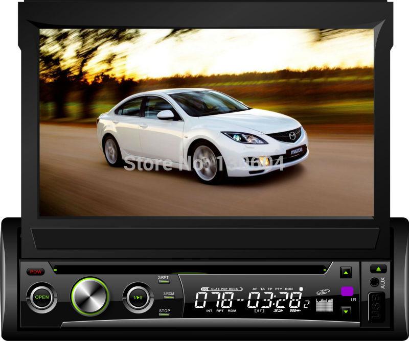 "Car Stereo Single One Din GPS Navigation 7"" Digital Touch Panel Multimedia Headunit Navigator Autoradio, discount ! on sale!(China (Mainland))"