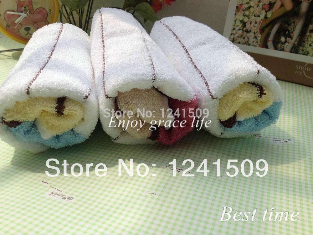 5Pcs/lot 33x70cm Free Shipping Beach Beautician Towel 100% Soft Cotton Beautician Hotel Towels Blue,Pink Randomly Send 17(China (Mainland))