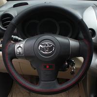 Toyota Vios Sienna Prius Land Cruiser FJ Cruiser Tundra Sequoia Zelas Avensis HBID hand stitch Leather Steering Wheel Cover