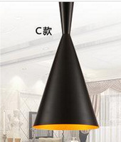 1pcs/pack Black New C(Tall,Fat and Wide) Design by tom dixon copper shade musical pendant lamp Beat Light,110V/230V