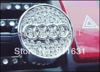 Car Air Freshener 100% Perfume Crystal for Audi Car Emblem Car Air outlet with Diamond accessories #F114A