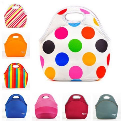 fermeture éclair en néoprène sacs à lunch thermique déjeuner sac isotherme en néoprène pour les femmes enfants sac de nourriture sac de refroidisseur de déjeuner boîte à lunch 8 boîte de couleur