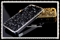 retail! Luxury swarov glitter diamond bling shining crystal handmade case cover for apple iphone 4 4s 5 5s mobile proctor