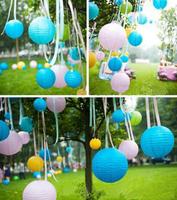 (20pcs/lot) 8''(20cm)Free shipping Chinese paper lantern lamp festival&wedding decoration 12 colors for choosing wedding lantern