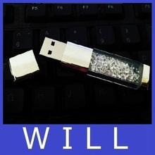 Miss Puff Lipstick usb flash drive 4GB 8GB 16GB 32GB 64GB crystal Jewelry creative u disk pen drive pendrive memory card disk(China (Mainland))