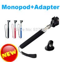 Free Shipping Tripod Aluminium Handheld Monopod Tripods Mount Adapter For Gopro Hero Camera HD 1 2 3+3 Colors/camera accessory-1