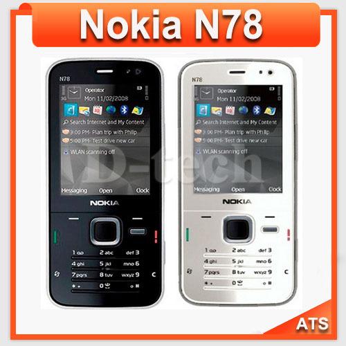 N78 Original Nokia N78 Mobile Phone 3G WIFI GPS 3.15MP Camera Free Shipping(China (Mainland))