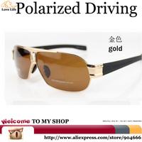 High-quality gifts Metallic Simple Lense Glasses Brand LOGO,Fashion Style Sunglasses Men Polarized Driving