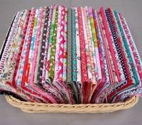 60 pcs 20cm*20cm 100% Cotton Fabric No Repeat Design Fat Quarter Quilting Patchwork Fabrics For Sewing Tilda Doll Cloth Textile