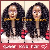 Deep curl lace wig! 150-180 density short curly human hair wigs ! brazilian virgin hair glueless lace front wigs for black women