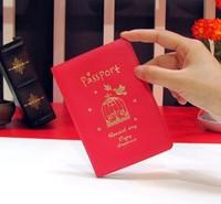 Passport bag women's men's bronzier embossed soft card holder ultra-thin PU cover 0081903