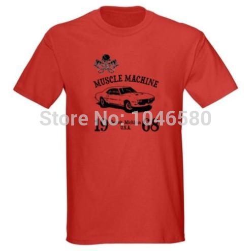 2014 New arrival men/women t shirt MUSCLE MACHINE 68 FIREBIRD 1968 CLASSIC MUSCLE CAR HOT ROD RACE T-SHIRT brank new cotton tee(China (Mainland))