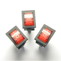 20PCS/LOT AC 6A/250V Red Light ON-OFF SPST Round Button Dot Boat Car Auto Rocker Switch