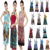 2014 new summer women's short-sleeved dressWomen's Maxi Flower Print Long Maxi Dress Chiffon Beach Dress Bohemian Sundress
