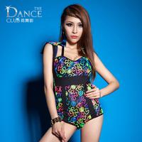 Wholesale Wemen's Sexy Neon Bodysuit Jumpsuits singer Hiphop Jazz Party dance costumes 4 Sizes x,m,l,xl
