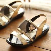 2014 New Skull Gauze Open Toe Kids Shoes Children Girl Princess Summer Sandals White Black Pink