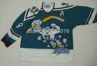 Cheap 1995-96 Wild Wing Teemu Selanne Jersey #8 Anaheim Mighty Ducks Jerseys Blue White