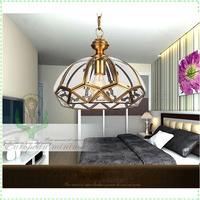 Modern European Copper art pendant lamps restaurant bar dining room bedroom coffeehouse vintage bronze pendant lights wholesale