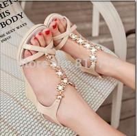 Hot Selling Fashion Women's Wedges Female Sandals High Heels Rhinestone Cross Belt Female Open Toe Shoe Princess Shoes Free Ship