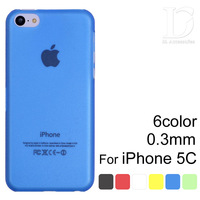 Case For iPhone 5c Slim Matte Transparent Cover for iPhone 5c 0.3mm Ultra Thin Colorful Phone Shell 2014 Hot Selling 0409