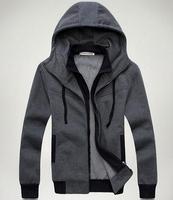 Freeshipping 2015 Men's Sports Hoodies coat ,Casual Jackets.Cotton Fleece,Double layer,Slim Style 47