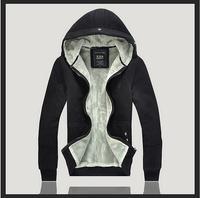 New Men's Plush Thick Warm Hoodie Overcoat Winter Coat Fleece & Men's Cotton Padded Jacket Men Jacket 80