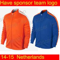 Netherlands jacket   holland soccer training coats Netherlands tracksuits sportswear 2014 new  soccer  ports  coat