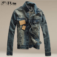 2014 Qiu Dong season tide men's denim jacket jacket denim jacket. Y1P2 TP3