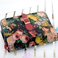 1PC Fashion Personality Vintage Flower Oil Paint Bag Small Cross-body Bags Messenger Bag New 2014 Women's Handbag EJ840022