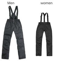 2014  Men Outdoor Sport Soft Shell Pants Suspender trousers Thermal Windproof Waterproof Quick Dry Overall  Hiking Camping Ski