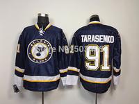St. Louis Blues Jersey #91 Vladimir Tarasenko Blue Ice Hockey Jersey,Embroidery logos,Mix orders