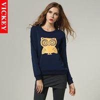 Max 5XL Plus Size 2014 New Autumn Fashion European Long Sleeve OWL Head Print Female Women's Sweatshirts V145 High Quality