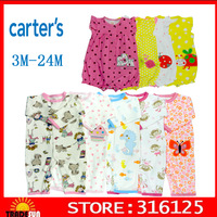 Carters Jumping Beans Baby Rompers Short Sleeve Baby clothes Floral Baby Girls and boys  Retail 1pcs/lot