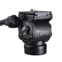 New WEIFENG Tripod Head FT-717AH Video Camera Tripod DSLR Camcorder Fluid Pan Head Drag+ Handle PK002 Wholesale Free Shipping