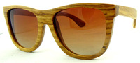 Free Shipping  Fashion Style Pear  Wood Sunglasses 100% Eco-friendly Purely Hand Made PolarIzed Lens 6030