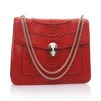 Hot Sale Brand New Genuine Leather Tote Bag Shaping Serpentine Pattern Snake Women Handbag Messenger Bag Casual Shoulder Bag