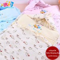 Baby Sleeping Bags Newborn Sleepsacks Blanket 100% Cotton envelope Children princess prince zipper warm in winter quilt 77X42cm
