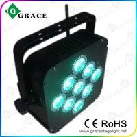 free shipping 1 transmitter + 8pcs rgbwa par led wireless battery flat light
