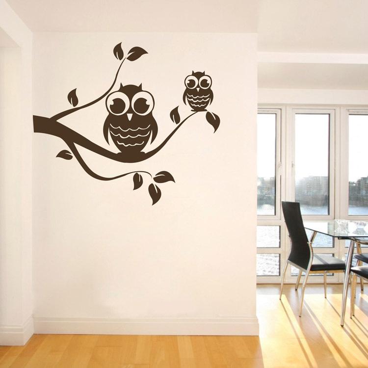 Owl Design Wall Stickers : Aliexpress buy tree branch owl wall sticker lovely