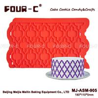 Lattice side design silicone mold,cake border decoration,cake border lace