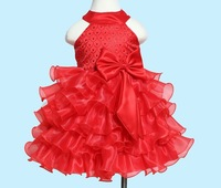 New Baby Girl's Party Dresses Flower Child  Princess Dress Formal Flower Girl Tutu Dresses 6pcs/lot
