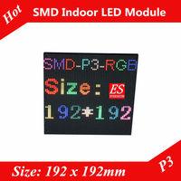 P3 Indoor Full Color  Advertising media  HD LED Display Module 64*64 pixels Size 192*192mm