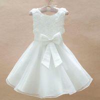 Blue white 2014 girl Christmas dress, girls princess tutu lace dress,baby girl wedding dress birthday party dresses 2-4 years