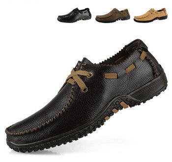 Мода европейский стиль мужчины квартиры обувь из натуральной кожи оксфорды свободного ...