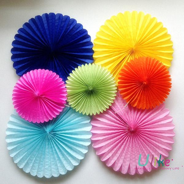 10 300ps Free Shipping Tissue Paper Fan Flower