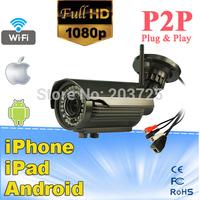 2.0 Megapixel Full HD 1080P Wireless Network IR-Bullet Camera IP66 Rated Waterproof Outdoor use
