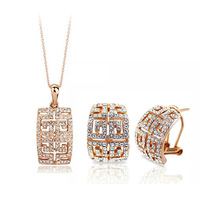 Free shipping  two colours crystal jewelry set