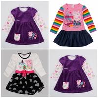 Peppa pig clothing,vestidos de menina,nova,new 2014,bebe,pepa pig dress,girl party dress,baby wear,kids girl clothes