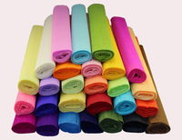 Free Shipping 27Color 50*250cm Plain Color Gift/Flower Wrapping Packing Crepe Paper  6Rolls/LOT